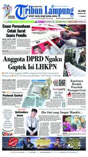 Cover Tribun Lampung 21 Januari 2019