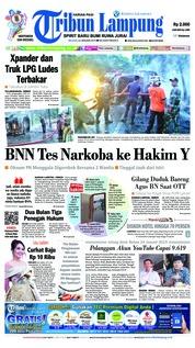 Cover Tribun Lampung 22 Januari 2019