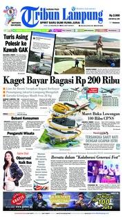 Cover Tribun Lampung 23 Januari 2019