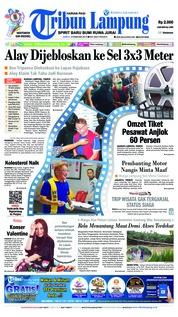 Cover Tribun Lampung 09 Februari 2019