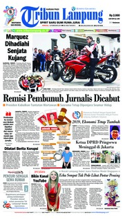 Cover Tribun Lampung 10 Februari 2019