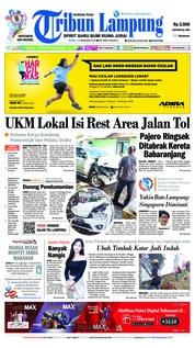 Cover Tribun Lampung 11 Februari 2019