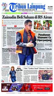 Cover Tribun Lampung 12 Februari 2019