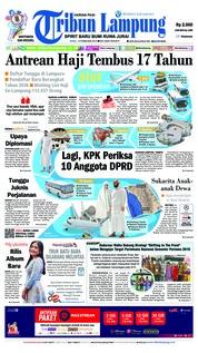 Cover Tribun Lampung 13 Februari 2019