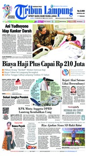 Cover Tribun Lampung 14 Februari 2019