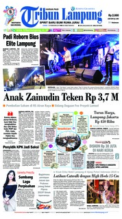 Cover Tribun Lampung 15 Februari 2019