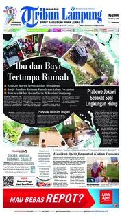 Cover Tribun Lampung 18 Februari 2019
