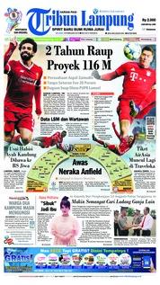 Cover Tribun Lampung 19 Februari 2019