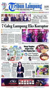 Tribun Lampung Cover 20 February 2019