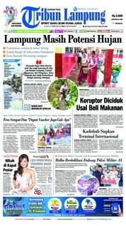 Cover Tribun Lampung 21 Februari 2019