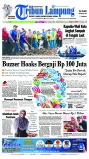 Cover Tribun Lampung 22 Februari 2019