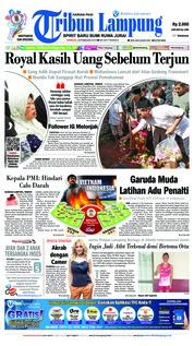 Tribun Lampung Cover 24 February 2019