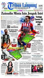 Cover Tribun Lampung 12 Maret 2019