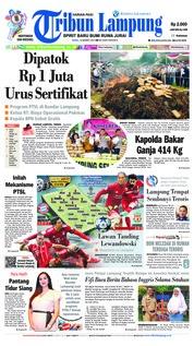 Cover Tribun Lampung 13 Maret 2019