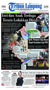 Cover Tribun Lampung 14 Maret 2019
