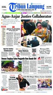 Cover Tribun Lampung 15 Maret 2019