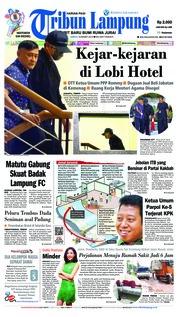 Cover Tribun Lampung 16 Maret 2019
