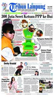 Cover Tribun Lampung 17 Maret 2019