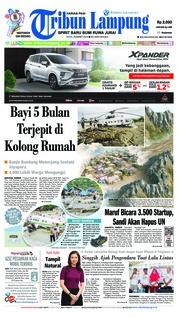 Cover Tribun Lampung 18 Maret 2019