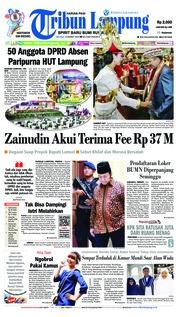 Cover Tribun Lampung 19 Maret 2019
