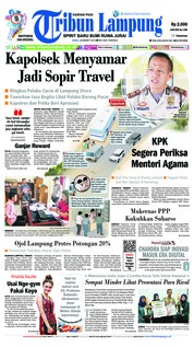 Tribun Lampung Cover 20 March 2019