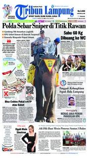 Cover Tribun Lampung 21 Maret 2019