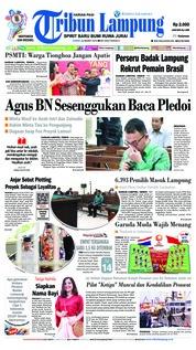 Cover Tribun Lampung 22 Maret 2019