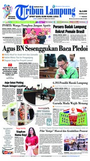 Tribun Lampung Cover 22 March 2019