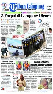 Tribun Lampung Cover 23 March 2019