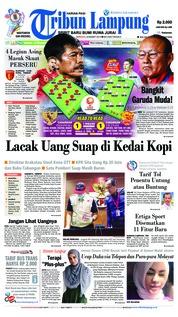 Cover Tribun Lampung 24 Maret 2019