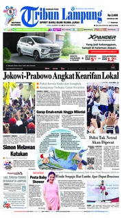 Tribun Lampung Cover 25 March 2019