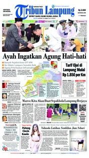 Tribun Lampung Cover 26 March 2019