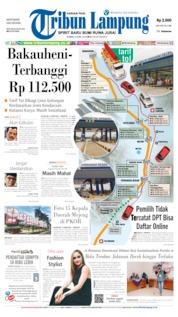 Cover Tribun Lampung 04 April 2019