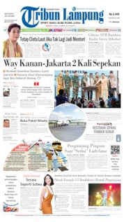 Cover Tribun Lampung 07 April 2019