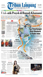 Cover Tribun Lampung 09 April 2019