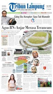 Cover Tribun Lampung 10 April 2019