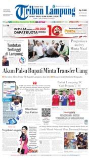 Cover Tribun Lampung 11 April 2019
