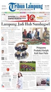 Cover Tribun Lampung 12 April 2019