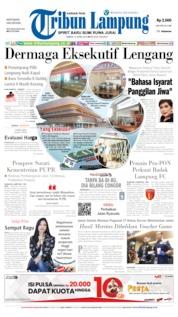 Cover Tribun Lampung 13 April 2019