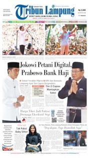 Cover Tribun Lampung 14 April 2019