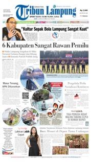 Cover Tribun Lampung 15 April 2019