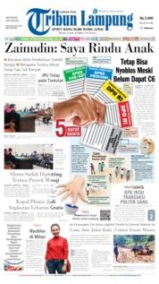 Tribun Lampung Cover 16 April 2019