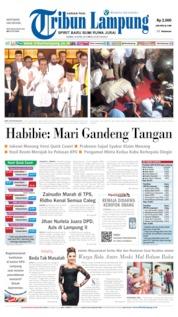 Tribun Lampung Cover 18 April 2019