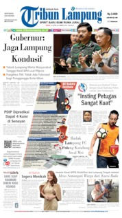 Cover Tribun Lampung 19 April 2019