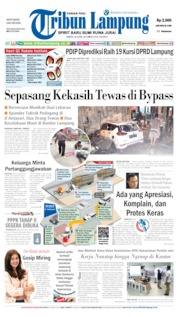 Tribun Lampung Cover 20 April 2019