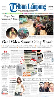Cover Tribun Lampung 21 April 2019
