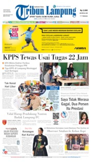 Cover Tribun Lampung 22 April 2019
