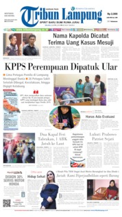 Cover Tribun Lampung 23 April 2019