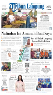 Tribun Lampung Cover 24 April 2019