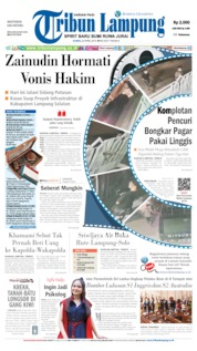 Cover Tribun Lampung 25 April 2019